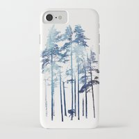 wolf iPhone & iPod Cases featuring Winter Wolf by Robert Farkas