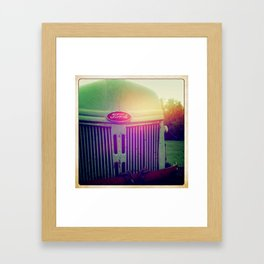 Sunset grill Framed Art Print