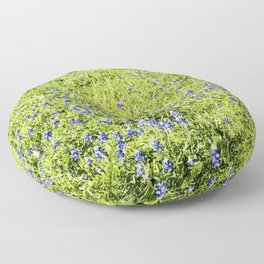 Texas Bluebonnet Field Floor Pillow