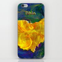 ohio iPhone & iPod Skins featuring Ohio Map by Roger Wedegis