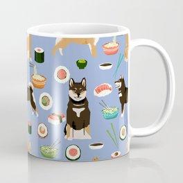 Shiba Inu noodles pho food cute dog art sushi dogs pet portrait pattern Coffee Mug
