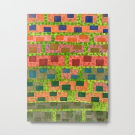 Added Color to a Colorful Wall Metal Print