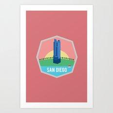 SAN DIEGO (I LOVE USA SERIE) Art Print