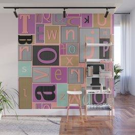 fun bright alphabet jumble Wall Mural