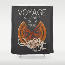 Books Collection: Jules Verne Shower Curtain