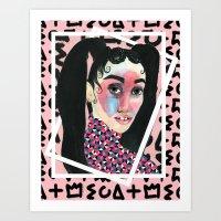 fka twigs Art Prints featuring FKA TWIGS by Isabelle Ewing