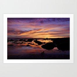 Purple Sunset Art Print