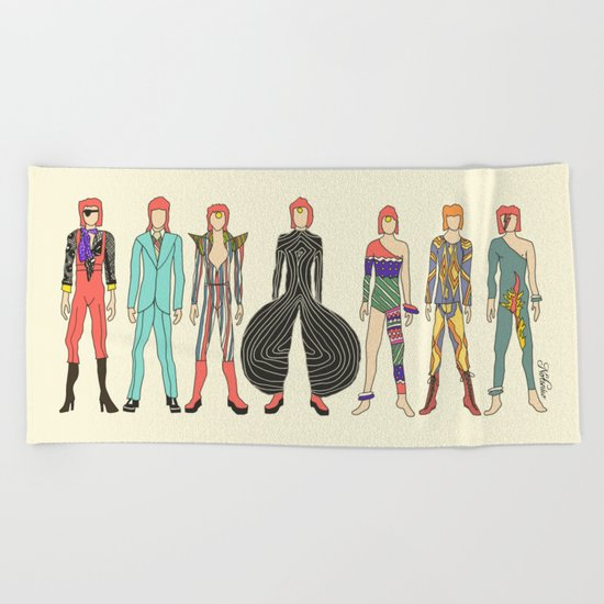 7 Red Head Bowies Beach Towel