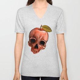 Apple Skull Unisex V-Neck