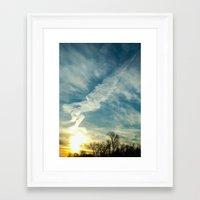 matisse Framed Art Prints featuring Matisse Sunrise by Adam Clark