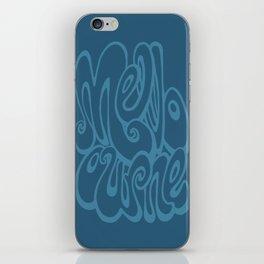 Melbourne typography - sailor blue iPhone Skin