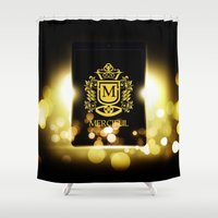 logo Shower Curtains featuring Logo by Azeez Olayinka Gloriousclick