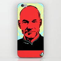 picard iPhone & iPod Skins featuring Captain Jean Luc Picard by Chadventure