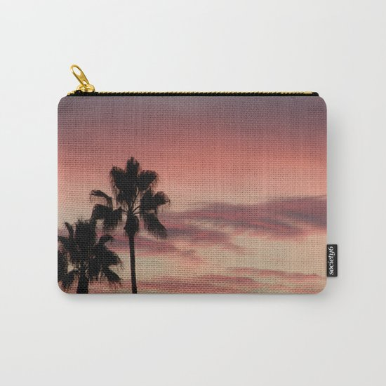 Atmospherics Number 3: Two Palms in the Sunset Carry-All Pouch