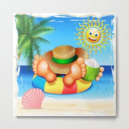 Summer Relax on the Sea Metal Print