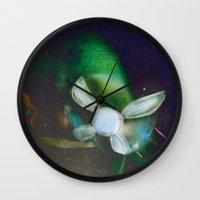 navy Wall Clocks featuring Navy by Stephano Herrera