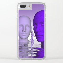 violet scifi world Clear iPhone Case