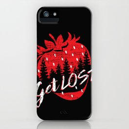 Get Lost in Strawberry and Pines iPhone Case