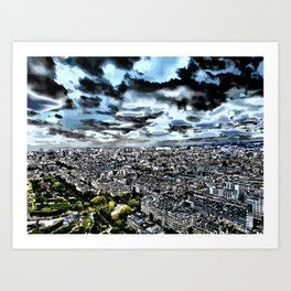 Paris - Blick vom Eiffelturm 1 Art Print