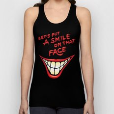 Let's Put A Smile On That Face Unisex Tank Top