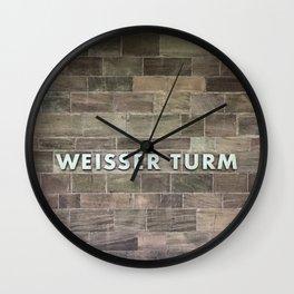 Nuremberg U-Bahn Memories - Weisser Turm Wall Clock