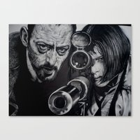 leon Canvas Prints featuring LEON by waynemaguire777