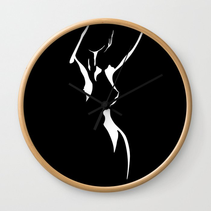 Nude Shadow Wall Clock