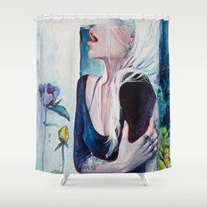 In Her Garden Shower Curtain