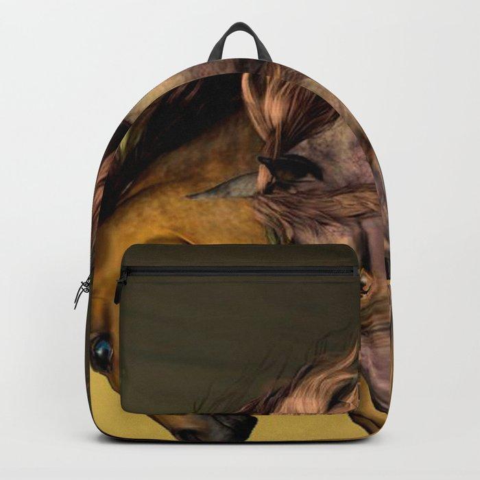 HORSES-Gunmetal Backpack