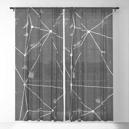Geo Black Sheer Curtain