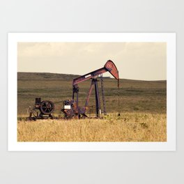 Oil Pump Number 9 Art Print
