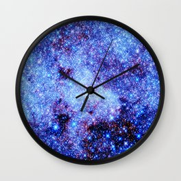 GAlaxy Periwinkle Stars Wall Clock