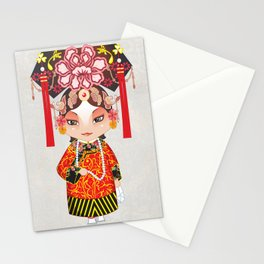 Beijing Opera Character TieJing Princess Stationery Cards