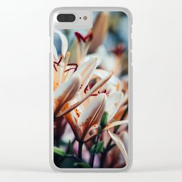 Lilies in Shadow, from my floral photography collection Clear iPhone Case