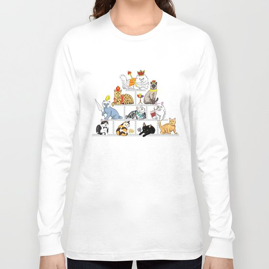 Cats Pyramid Long Sleeve T-shirt