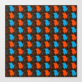 Orange Blue Buffalo Spirit Canvas Print