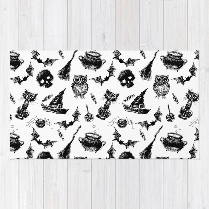 Halloween pattern design Rug