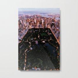 New York City // Retro 88 Metal Print