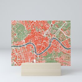 Rome city map classic Mini Art Print