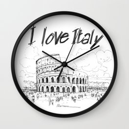 Il colosseo (Roma) Wall Clock