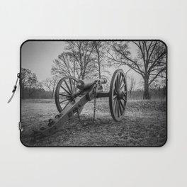 Spotsylvania Virginia Historic Artillery Black and White Fine Art Photography Civil War Laptop Sleeve