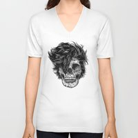 dead V-neck T-shirts featuring Dead Duran by Rachel Caldwell