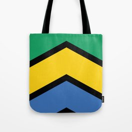Chevron Gabon Flag Colors Tote Bag
