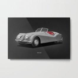Jaguar XK-120 Metal Print