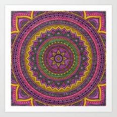 Hippie mandala 45 Art Print