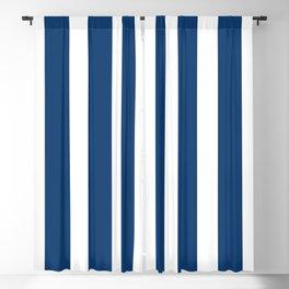 Resort Stripe in Navy Blackout Curtain