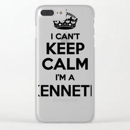 I cant keep calm I am a KENNETH Clear iPhone Case