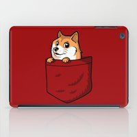 doge iPad Cases featuring Pocket Shibe (Shiba Inu, Doge) by Tabner's