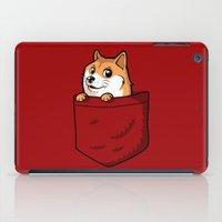 shiba inu iPad Cases featuring Pocket Shibe (Shiba Inu, Doge) by Tabner's