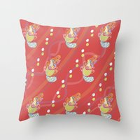 platypus Throw Pillows featuring Platypus by Sarah Hedge